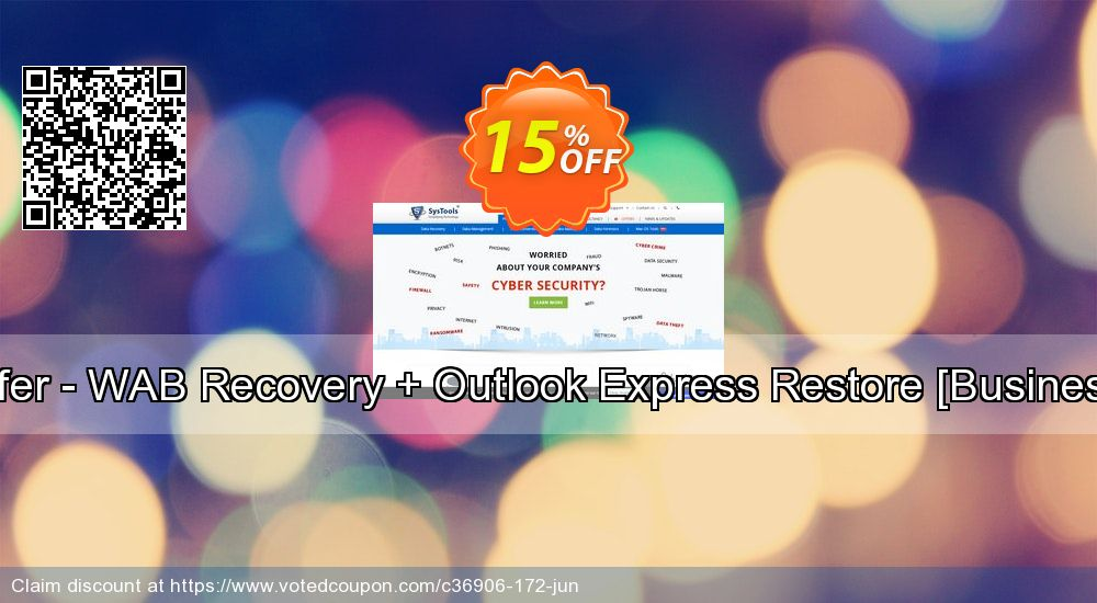 Get 15% OFF Bundle Offer - WAB Recovery + Outlook Express Restore [Business License] offering sales