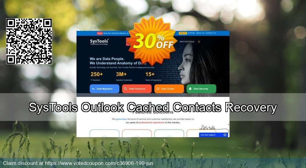 Get 30% OFF SysTools Outlook Cached Contacts Recovery Coupon