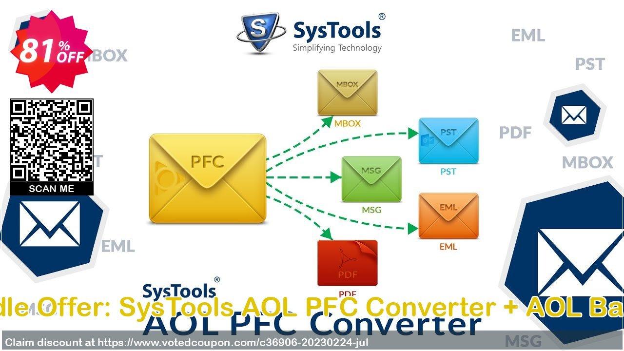 Get 81% OFF Bundle Offer: SysTools AOL PFC Converter + AOL Backup Coupon