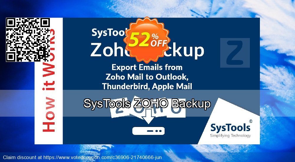 Get 52% OFF SysTools ZOHO Backup Coupon