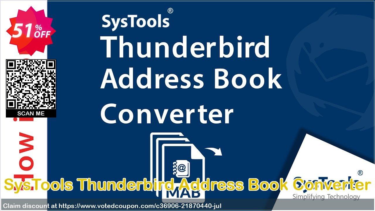 Get 51% OFF SysTools Thunderbird Address Book Converter Coupon