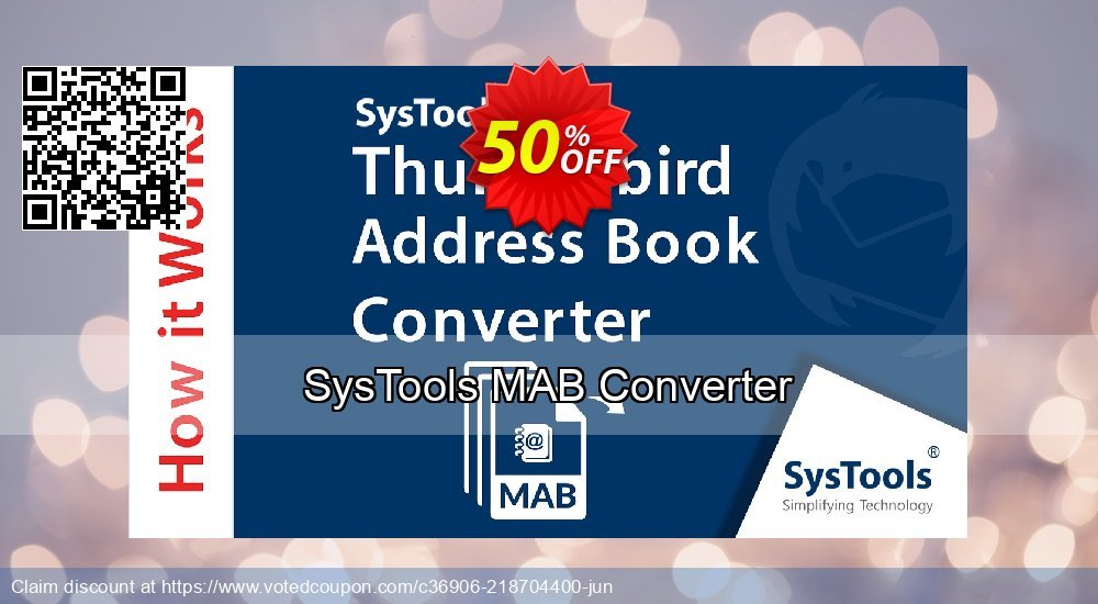 Get 51% OFF SysTools MAB Converter Coupon