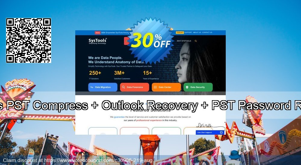 Get 20% OFF Systools PST Compress + Outlook Recovery + PST Password Remover Coupon