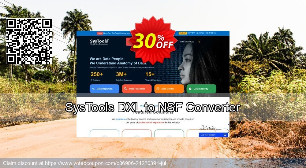 Get 20% OFF SysTools DXL to NSF Converter offering sales