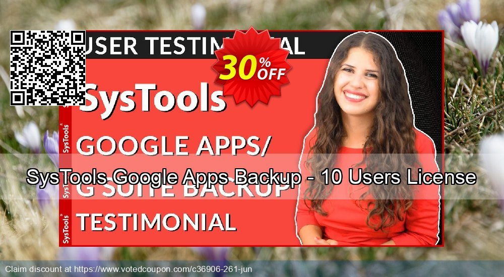 Get 15% OFF Google Apps Backup - 5 to 10 Users License sales