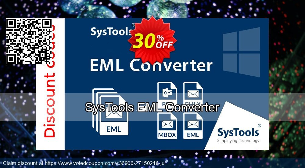 Get 20% OFF SysTools EML Converter Coupon