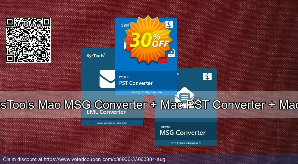 Get 30% OFF Bundle Offer: SysTools Mac MSG Converter + Mac PST Converter + Mac EML Converter Coupon