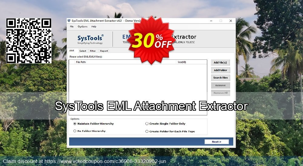 Get 31% OFF SysTools EML Attachment Extractor Coupon
