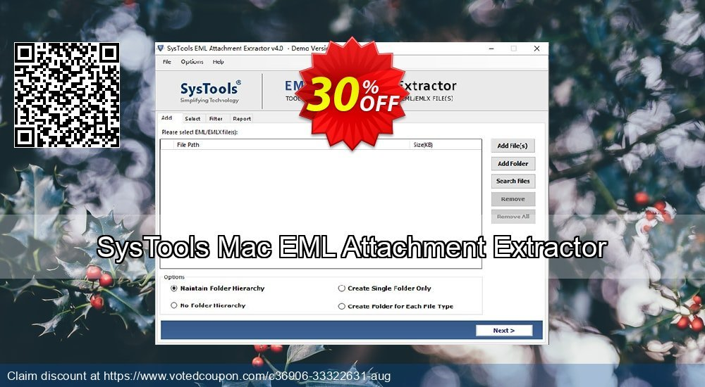 Get 31% OFF SysTools Mac EML Attachment Extractor Coupon