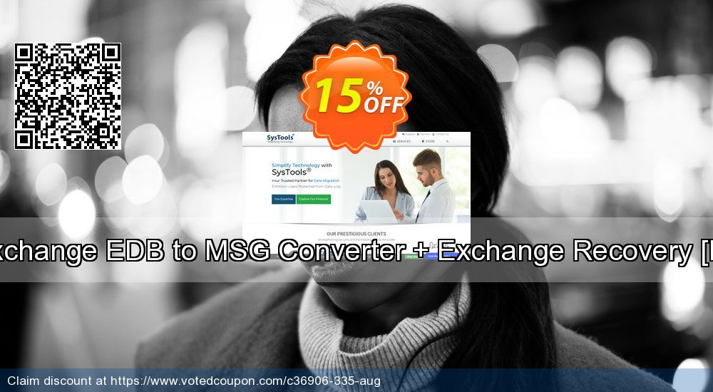Get 15% OFF Bundle Offer - Exchange EDB to MSG Converter + Exchange Recovery [Personal License] offering sales