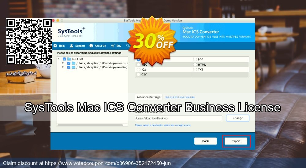 Get 30% OFF SysTools Mac ICS Converter Business License Coupon
