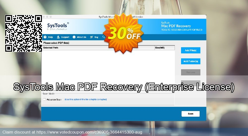 Get 30% OFF SysTools Mac PDF Recovery, Enterprise License Coupon