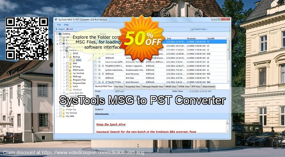 Get 51% OFF SysTools MSG to PST Converter Coupon