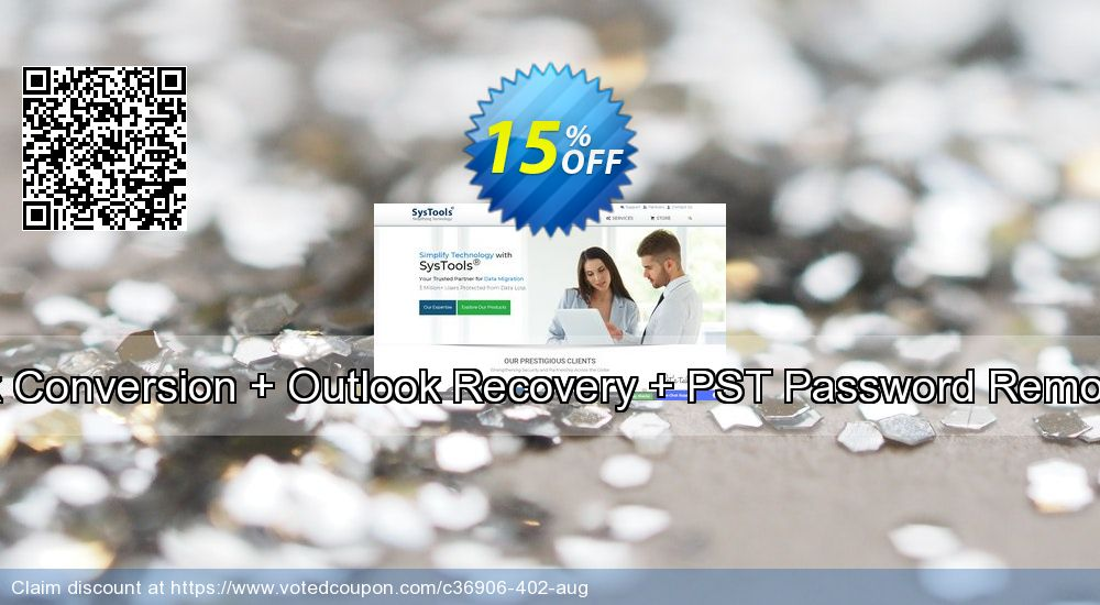 Get 15% OFF Bundle Offer - Outlook Conversion + Outlook Recovery + PST Password Remover [Business License] promo