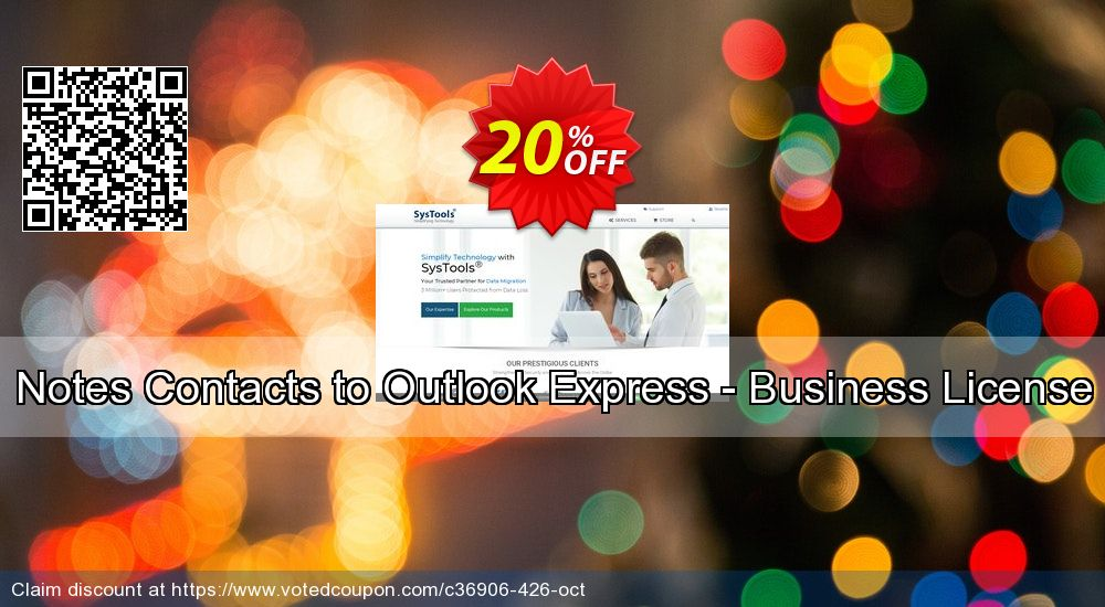 Get 90% OFF Notes Contacts to Outlook Express - Business License offering sales