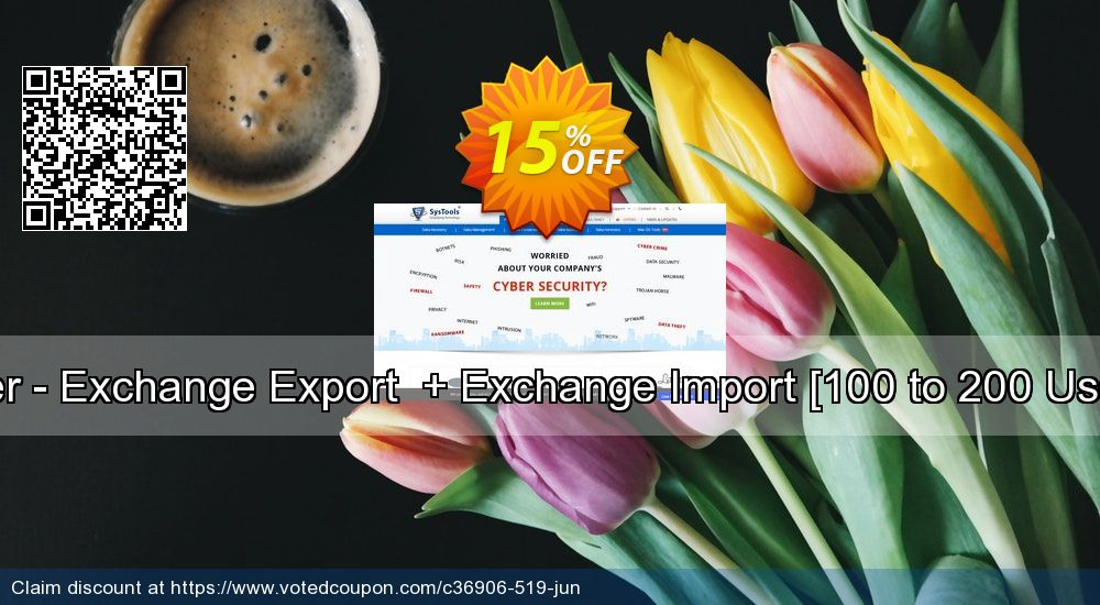 Get 15% OFF Bundle Offer - Exchange Export + Exchange Import [100 to 200 Users License] offering sales