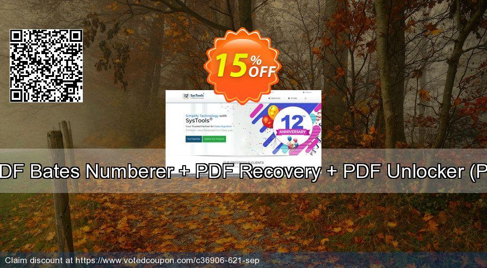 Get 15% OFF Bundle Offer - PDF Bates Numberer + PDF Recovery + PDF Unlocker [Personal License] discounts