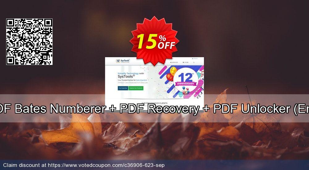 Get 15% OFF Bundle Offer - PDF Bates Numberer + PDF Recovery + PDF Unlocker [Enterprise License] sales