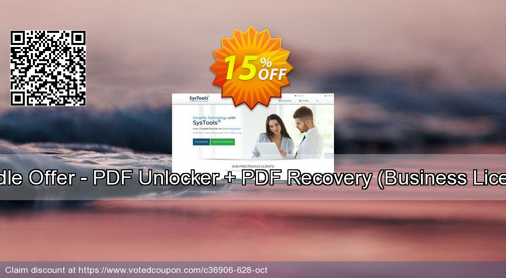 Get 15% OFF Bundle Offer - PDF Unlocker + PDF Recovery [Business License] offering sales