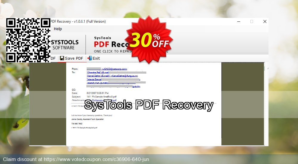 Get 31% OFF SysTools PDF Recovery Coupon