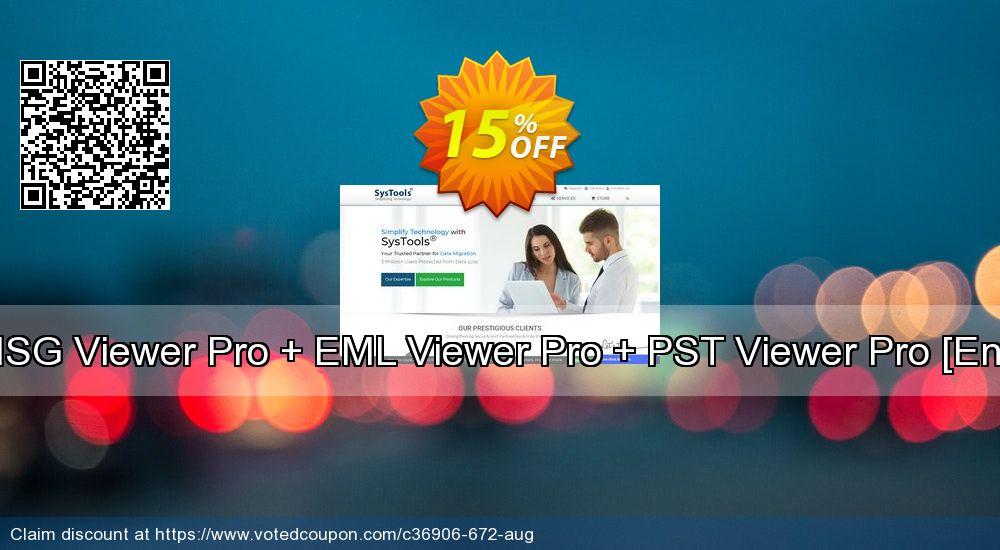 Get 15% OFF Bundle Offer - MSG Viewer Pro + EML Viewer Pro + PST Viewer Pro [Enterprise License] offering sales