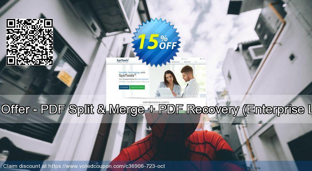 Get 15% OFF Bundle Offer - PDF Split & Merge + PDF Recovery [Enterprise License] offering deals