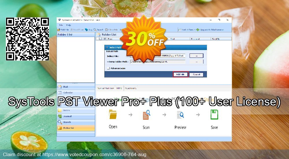 Get 30% OFF SysTools PST Viewer Pro+ Coupon