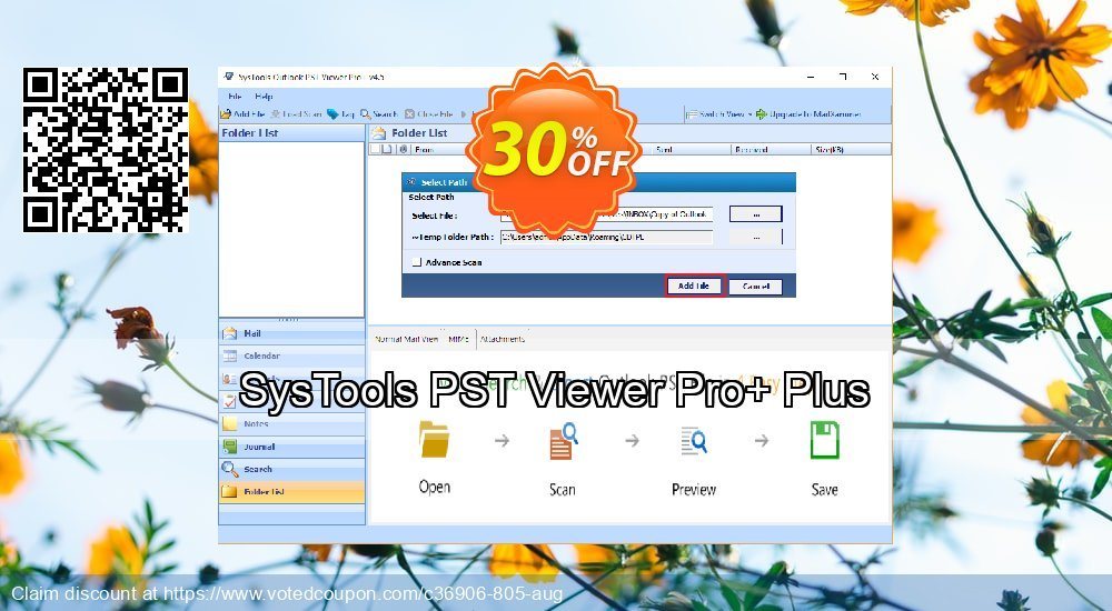 Get 30% OFF SysTools PST Viewer Pro Plus Coupon