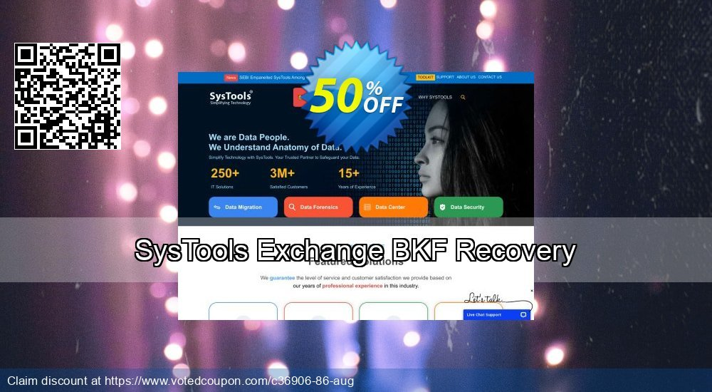 Get 30% OFF SysTools Exchange BKF Recovery deals