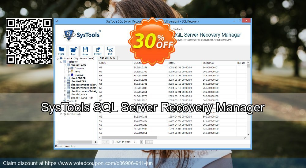 Get 20% OFF SysTools SQL Server Recovery Manager - Site License offering discount