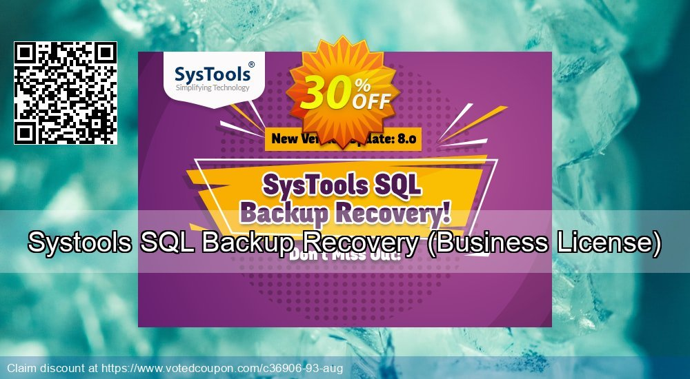 Get 30% OFF Systools SQL Backup Recovery, Business License Coupon