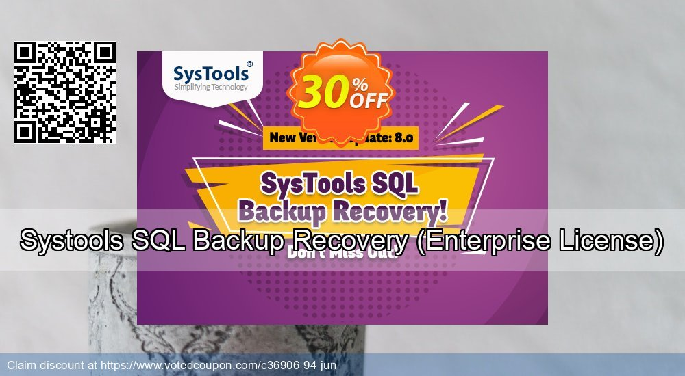 Get 38% OFF Systools SQL Backup Recovery, Enterprise License Coupon