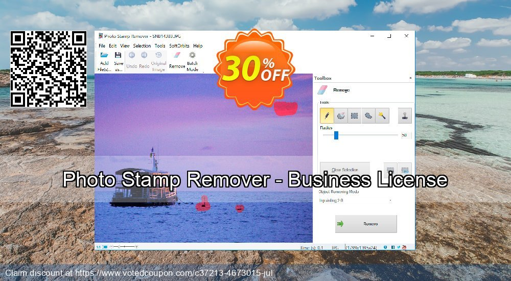Get 30% OFF Photo Stamp Remover - Business License offering discount