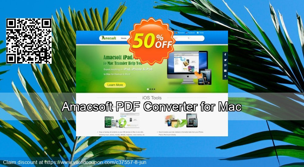 Get 50% OFF Amacsoft PDF Converter for Mac offering sales
