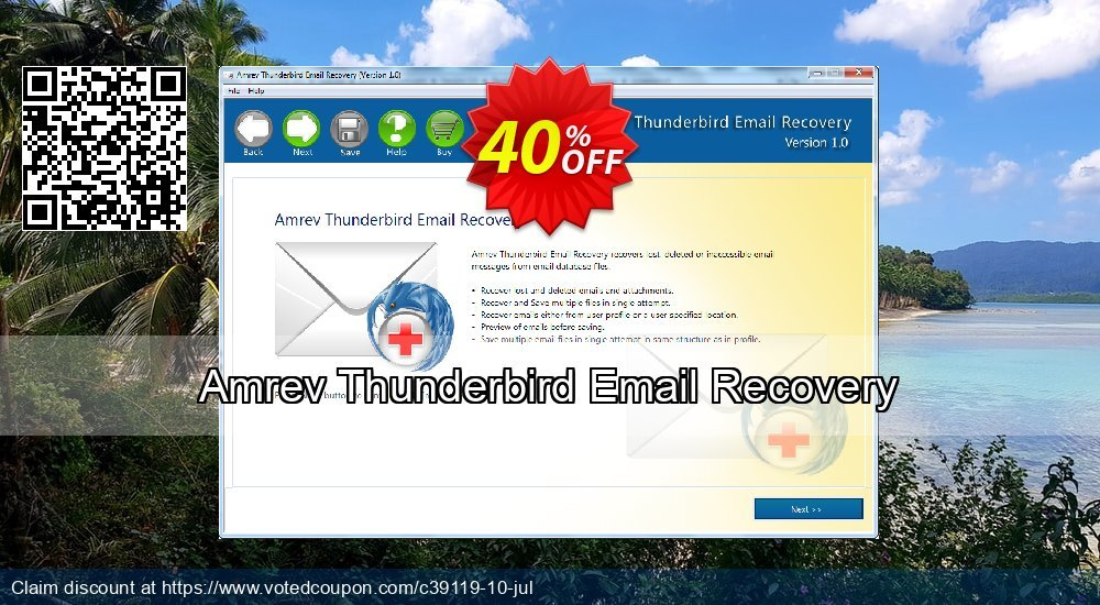 Get 41% OFF Amrev Thunderbird Email Recovery Coupon