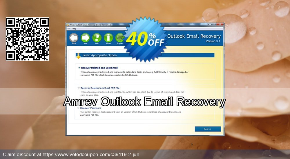 Get 40% OFF Amrev Outlook Email Recovery Coupon