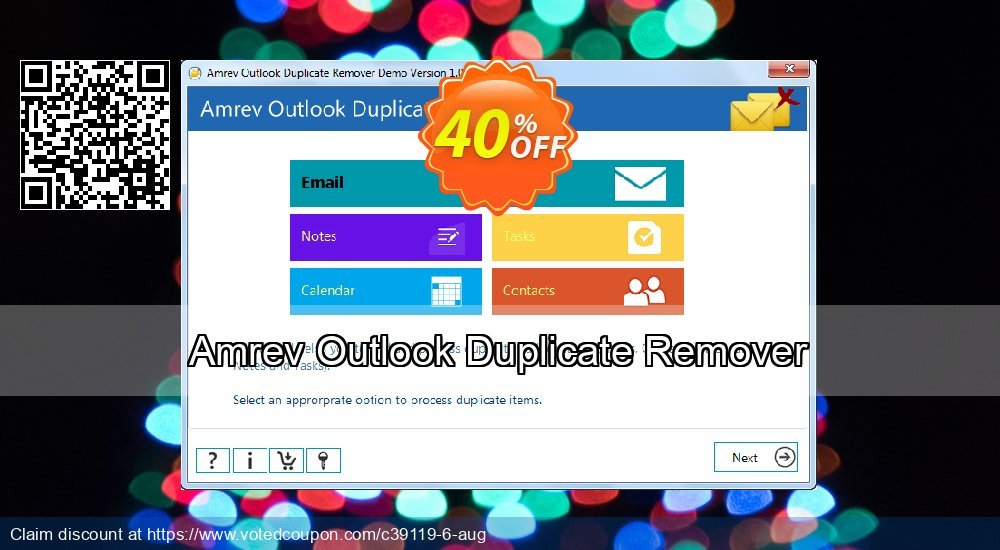 Get 41% OFF Amrev Outlook Duplicate Remover Coupon