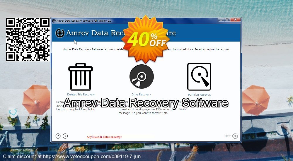 Get 41% OFF Amrev Data Recovery Software Coupon