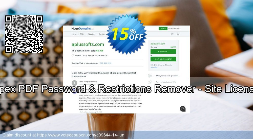 Get 15% OFF Apex PDF Password & Restrictions Remover - Site License offering sales