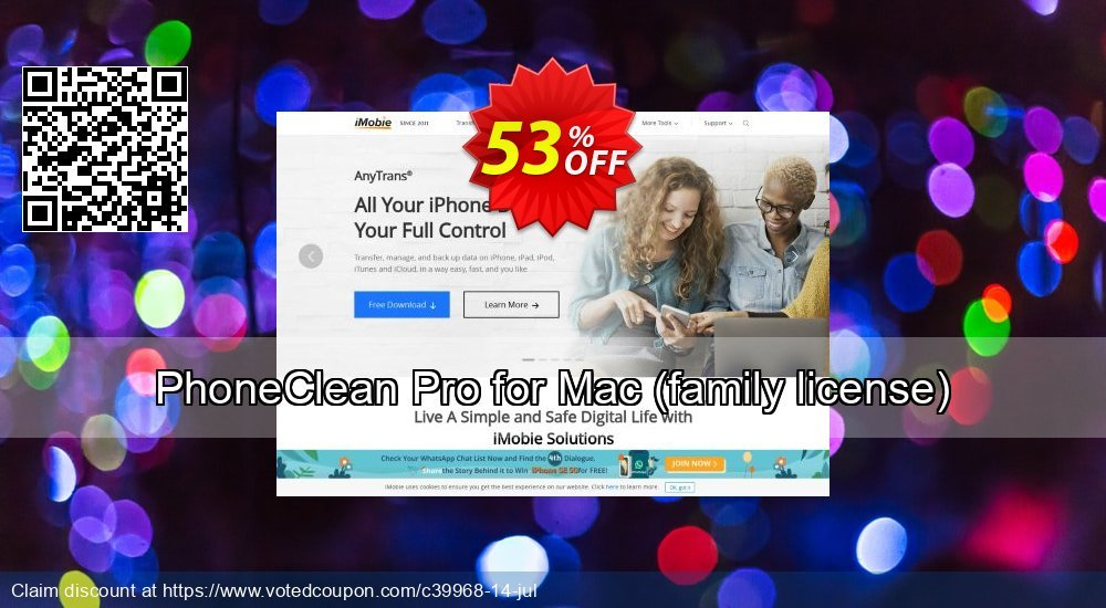 Get 47% OFF PhoneClean Pro for Mac - family license offering sales