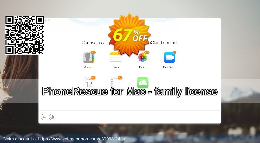Get 67% OFF PhoneRescue for Mac - family license Coupon