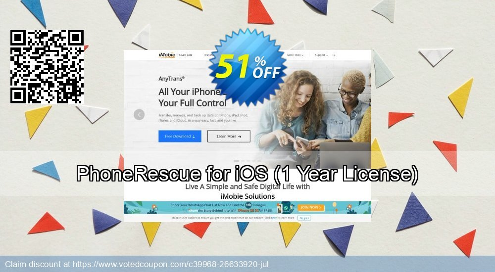 Get 31% OFF PhoneRescue for iOS, 1 Year License Coupon