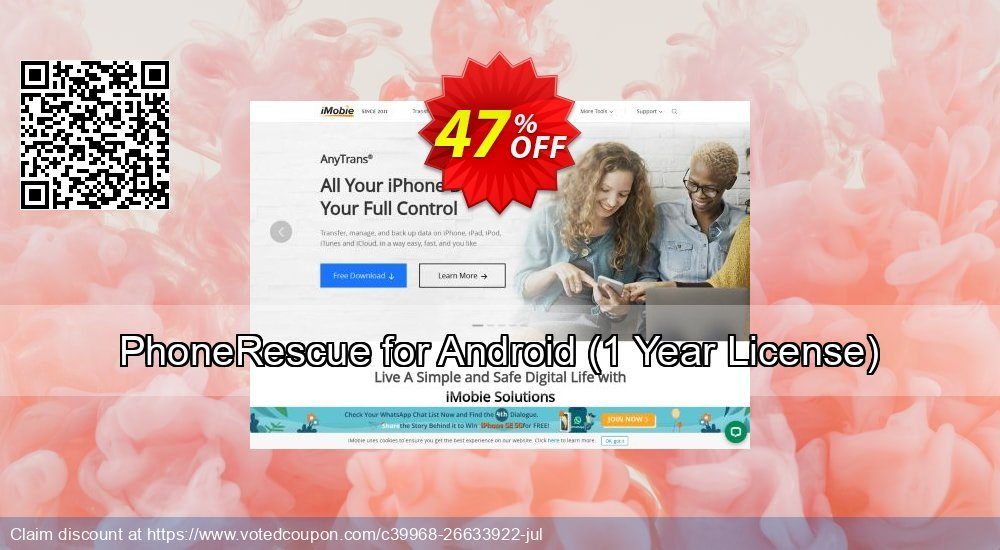 Get 32% OFF PhoneRescue for Android, 1 Year License Coupon