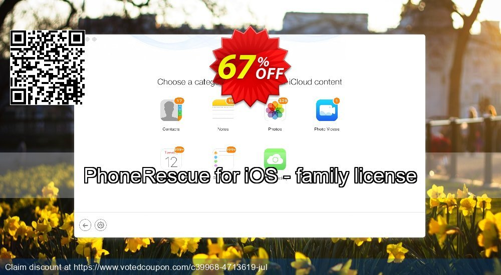 Get 67% OFF PhoneRescue for iOS - family license Coupon
