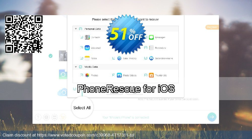 Get 31% OFF PhoneRescue for iOS Coupon