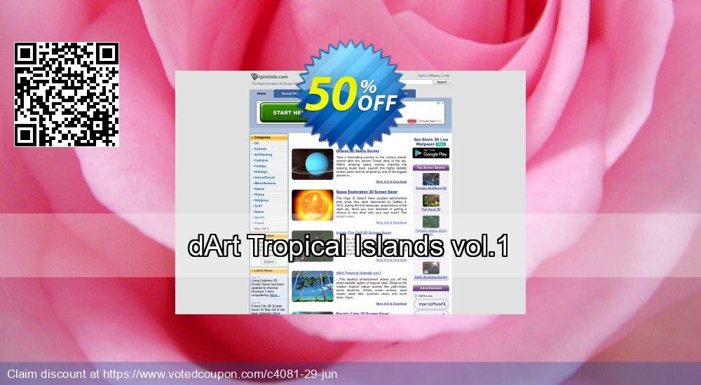 Get 50% OFF dArt Tropical Islands vol.1 offering sales