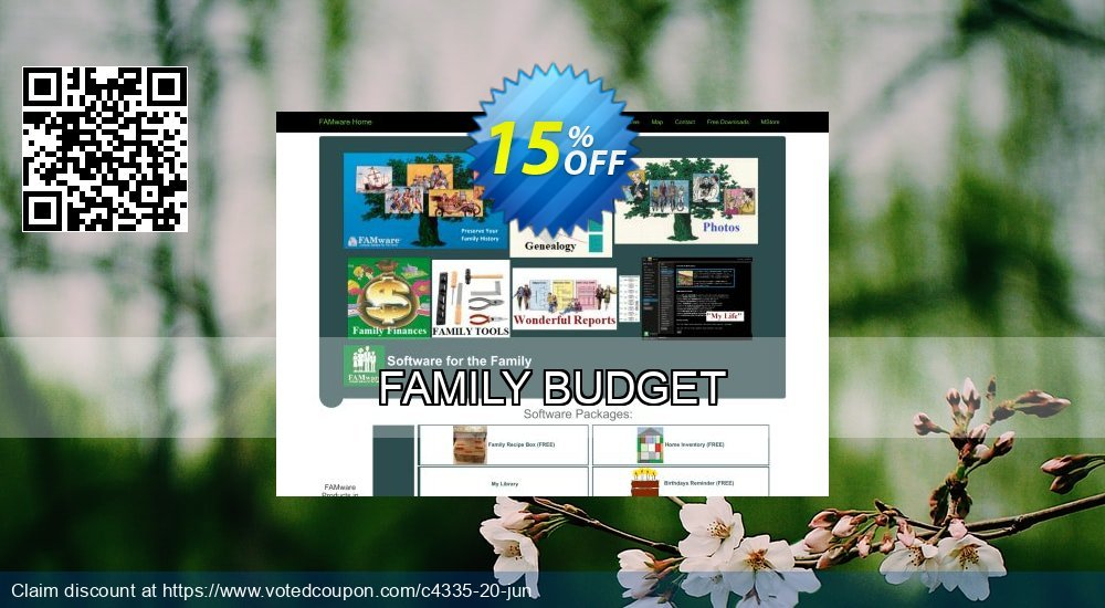 Get 15% OFF FAMILY BUDGET offer