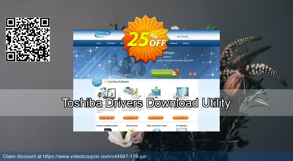 Get 25% OFF Toshiba Drivers Download Utility discounts