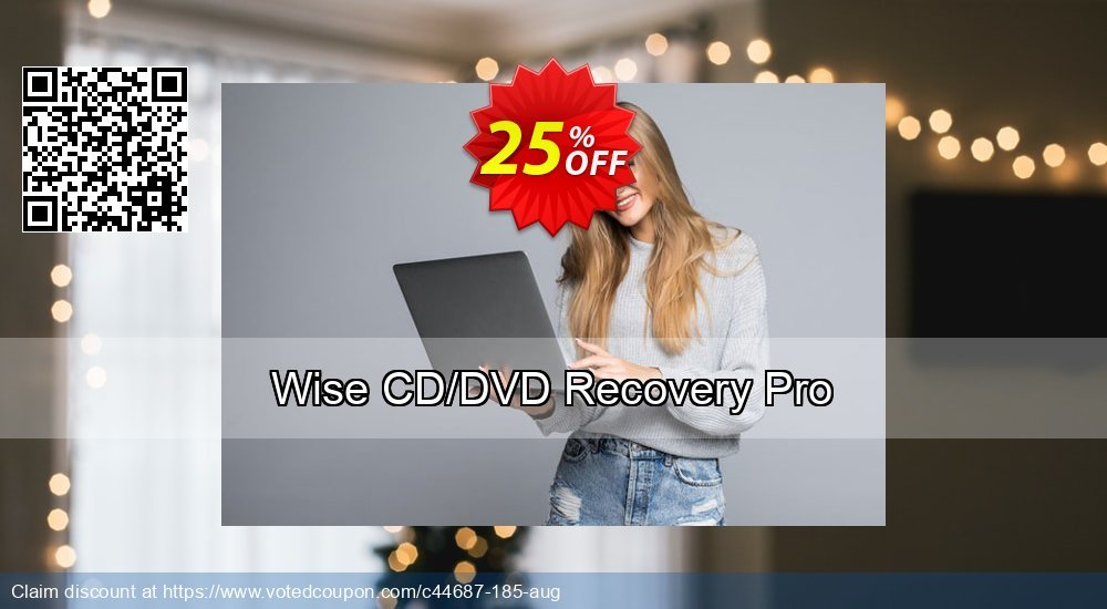 Get 25% OFF Wise CD/DVD Recovery Pro offering deals