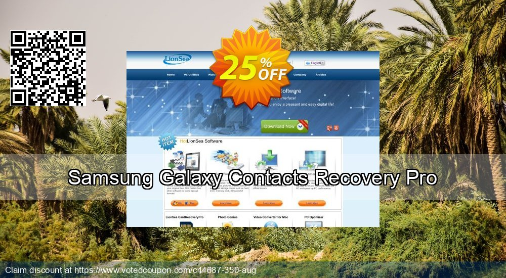 Get 25% OFF Samsung Galaxy Contacts Recovery Pro Coupon